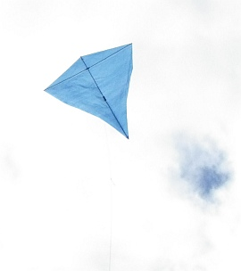 The big MBK Multi-Dowel Diamond kite in flight.