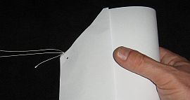 Making the Paper Sled kite - Step 4d