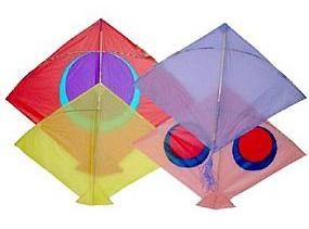 Indian fighter kites, made from tissue and bamboo.s