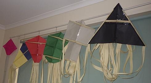 MBK Paper Series kites plus the purple Minimum Tetra