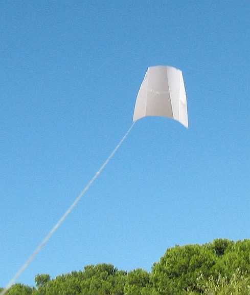 Paper kites don't come any simpler than this single-sheet example.