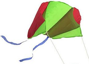 The Keyring pocket kite unfurled.