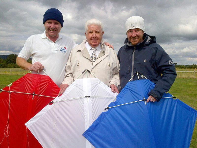Peter, Mark and Paul Powell with some MkIII kites.