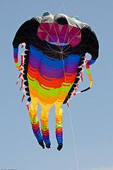 A large inflatable show kite.