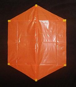 Rokkaku Kite Plans - 2 skewer front
