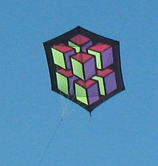 Rokkaku Kites - great 3D geometric pattern.
