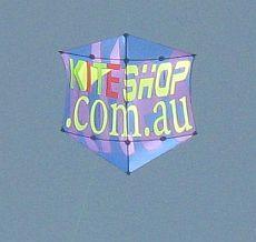 Rokkaku Kites - seen at a festival, advertising a local kite shop