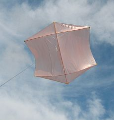 Rokkakus - the Dowel Rokkaku in flight.