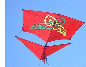 A home-made Roller Kite in flight.