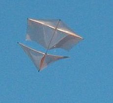 Roller Kites - the Dowel Roller in flight.