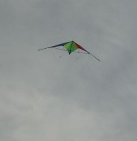 Kite Blog - cheap stunt kite in flight.