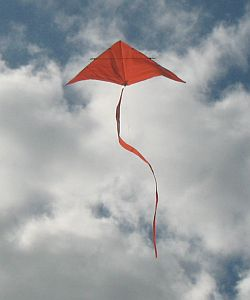 Simple Delta Kite - hovering in light winds.