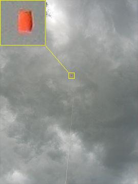 Simple Sled Kite - at 400 feet in a large thermal.