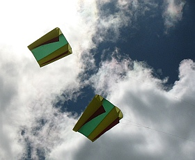 A Ram-Air Sled Kite In Duplicate.