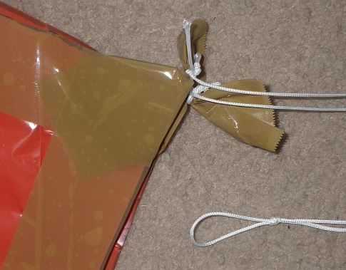 The Soft Sled kite - bridle complete.