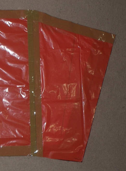 The Soft Sled kite - cell inner seam taped onto sail.