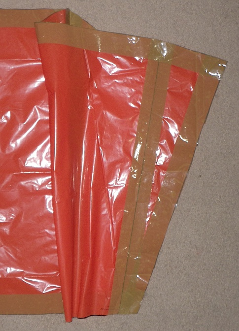 The Soft Sled kite - cell outer seam taped onto sail.