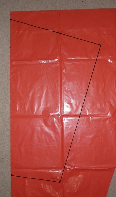 The Soft Sled kite - cell outline.