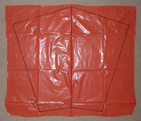 The Soft Sled kite - complete cell outline.