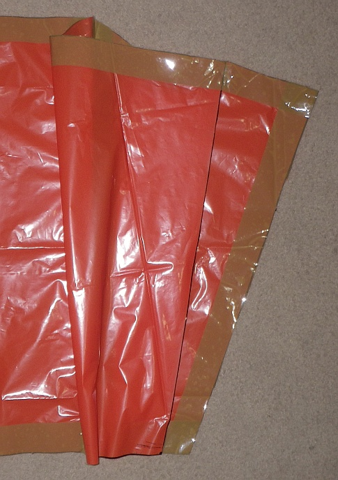 The Soft Sled kite - cell outer seam tacked onto sail.