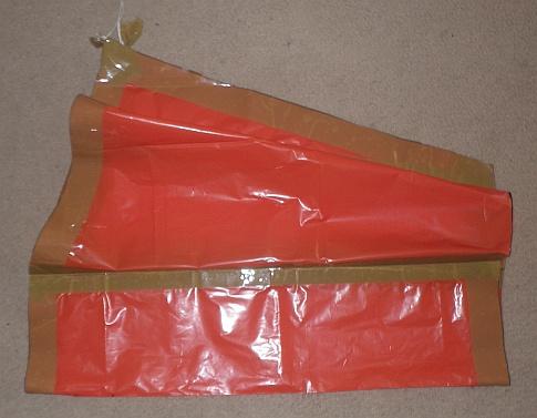 The Soft Sled kite - folded in half.