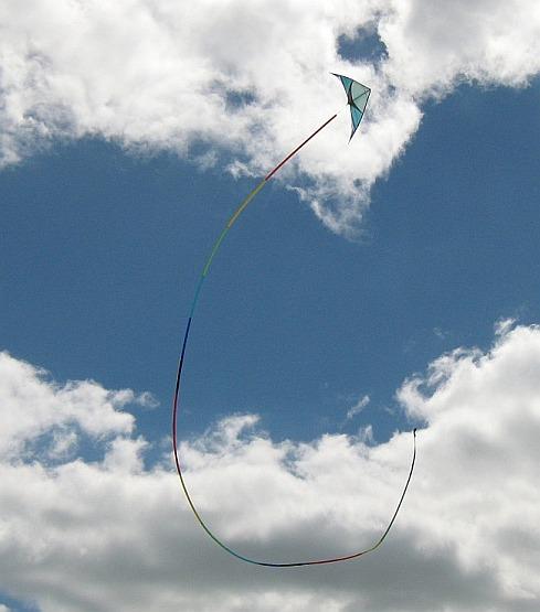 Dual line stunt kites take some skill to fly.