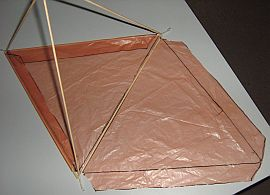 Making tetrahedral kites - step 7