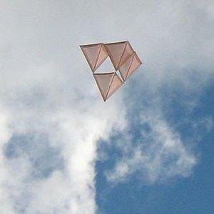 The MBK Skewer tetrahedral in flight.