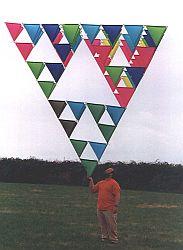 A 64-cell tetrahedron kite.