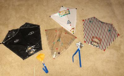 Some of the kites the