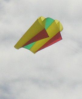 Sled kite with ram air spars.