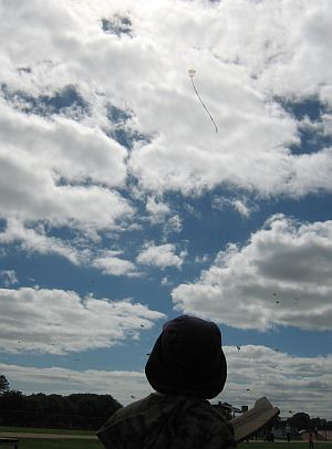 Child Flying Kite - Aren with the 1-Skewer Roller at the Adelaide Kite Festival 2011.