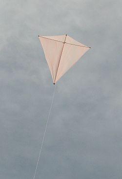 Dowel Diamond kite in flight.