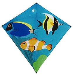 Some fish kites for kids are just Diamonds with a marine theme.