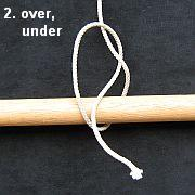 Tying the Half Hitch knot - step 2.