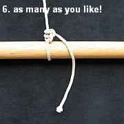 Tying the Half Hitch knot - step 6.