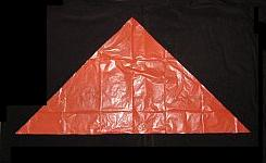 The Simple Delta - the sail cut out and edged with tape.