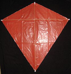 The Simple Diamond - both dowels taped in place.