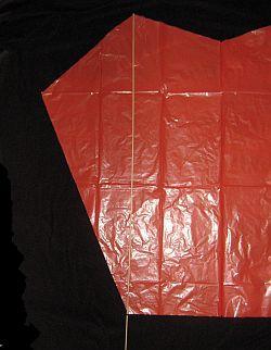 The Simple Sled kite - cut dowel.