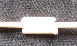 The 1-Skewer Roller - close-up of the vertical spar join