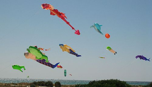 Inflatable Kites In 2008 - group of large kites.