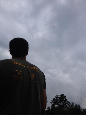 Flying at about 60 yards.