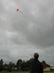 Original 2-Skewer Delta in flight.