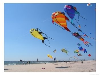 Inflatable wind art at a kite festival