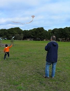 An alternative definition of kite running - chasing the tail!