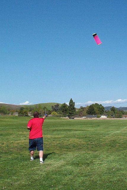 Kite Safety - plenty of room for this soft stunt kite to fly!