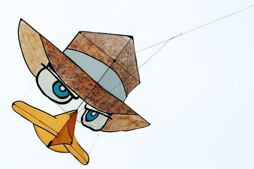 Kite Shapes - funny cartoon character kite.