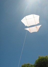 How to make a Dopero kite from dowel and plastic.