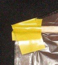 The Dowel Rokkaku - close-up of tip cap tape