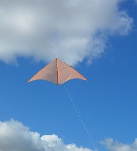The MBK Dowel Delta in flight.